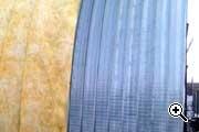 Арочный ангар – внешнее утепление из стекловаты